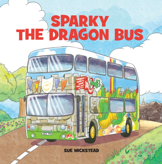 Sparky the Dragon Bus Cover - IngramSpark - AW