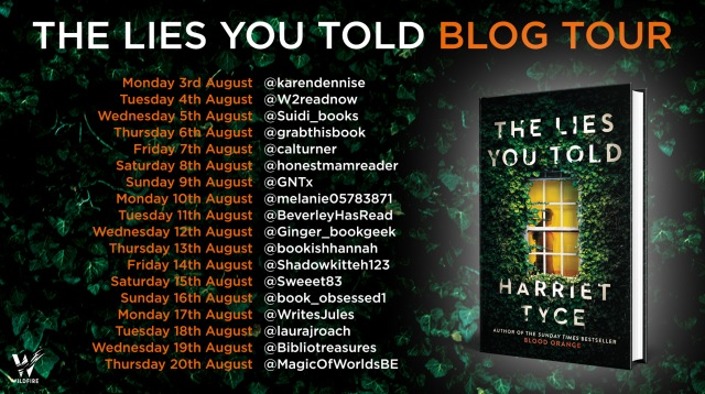 The Lies You Told - blog tour poster