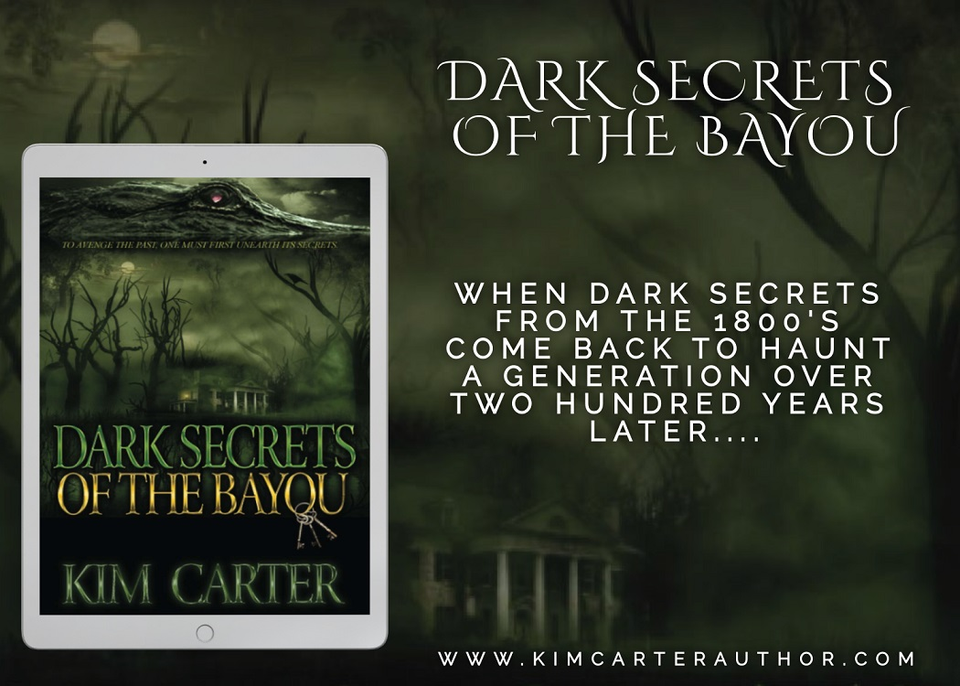 Dark Secrets of the Bayou with blurb and book title