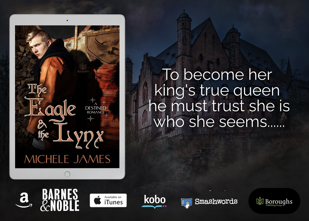The Eagle & The Lynx with blurb and bookstore logos