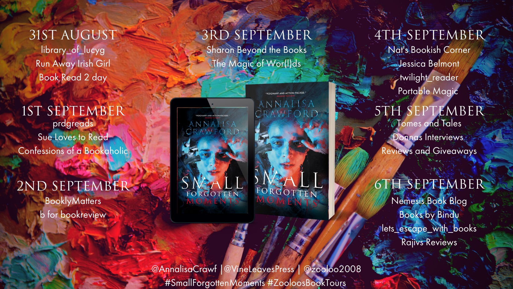 Small Forgotten Moments Book Tour