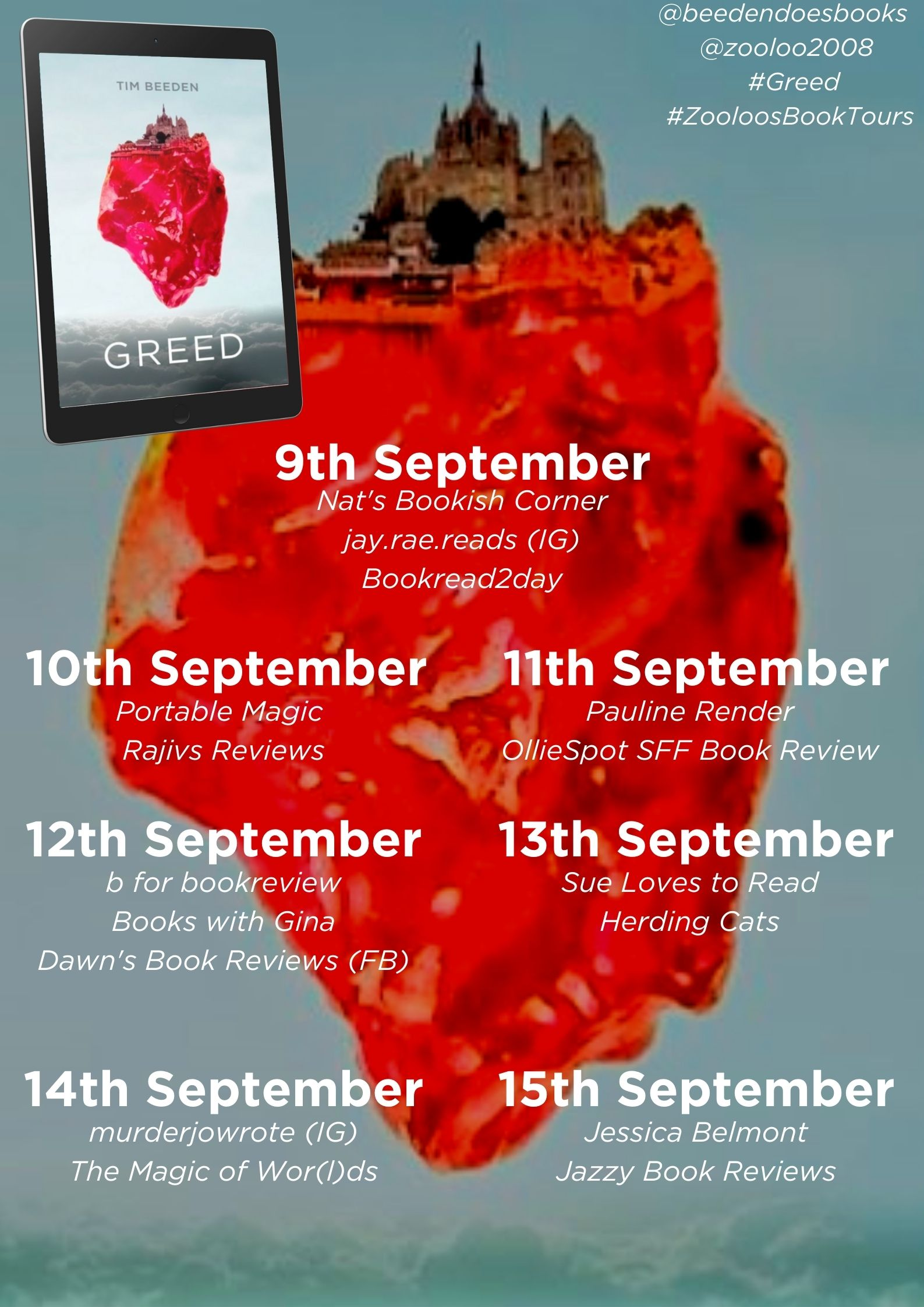 Greed Book Tour Poster
